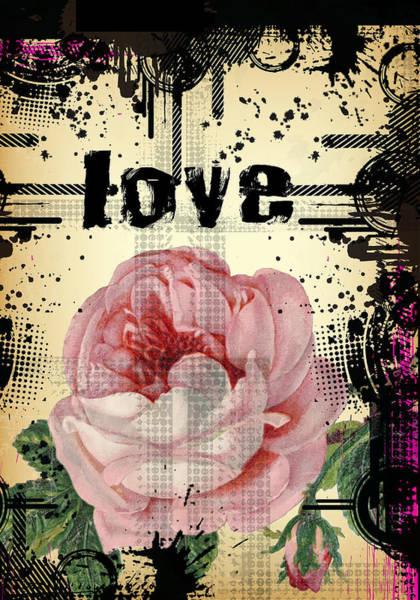 Digital Art - Duvet Grunge Love by Robert G Kernodle