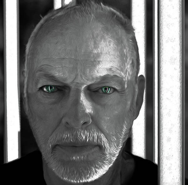 David Gilmour Painting - Dvid Gilmour Eyes By Nixo by Never Say Never