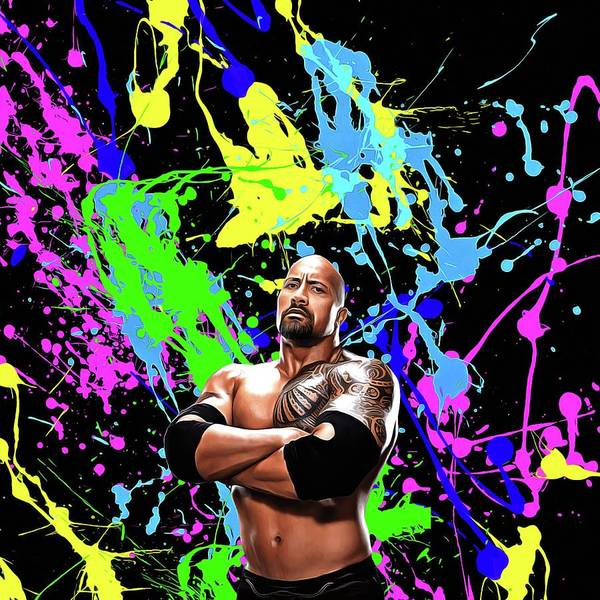 Dwayne Johnson Wall Art - Painting - Dwayne Johnson - Celebrity Art by Shraddha Sharma