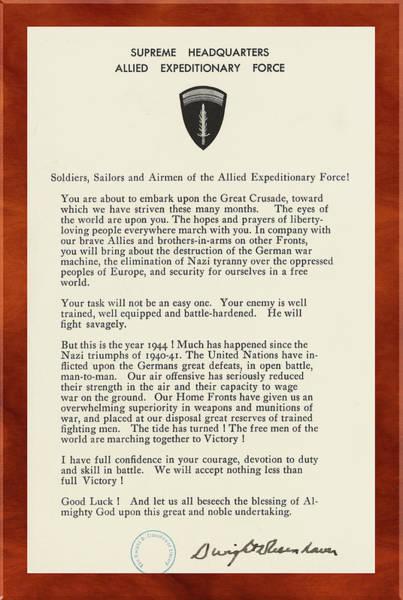 Photograph -  Dwight D Eisenhower Ww2 Letter by Carlos Diaz