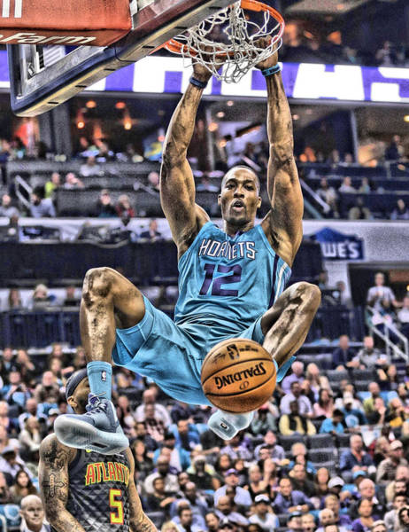 Wall Art - Mixed Media - Dwight Howard Charlotte Hornets Player Art 1 by Joe Hamilton