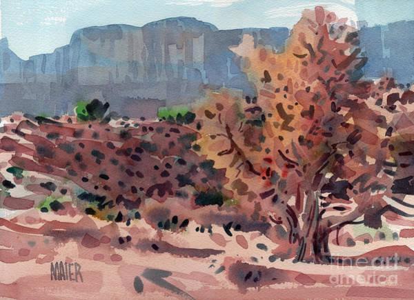 Juniper Wall Art - Painting - Dying Juniper by Donald Maier