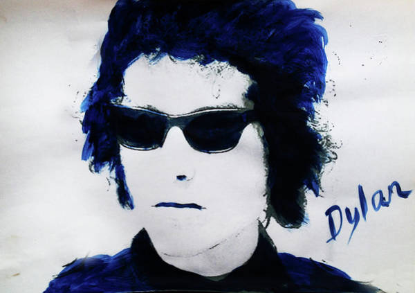 Blue Oyster Cult Wall Art - Painting - Dylan Blue  by Enki Art