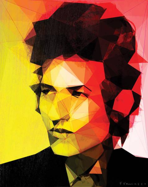 Bob Dylan Digital Art - Dylan by Enrico Varrasso