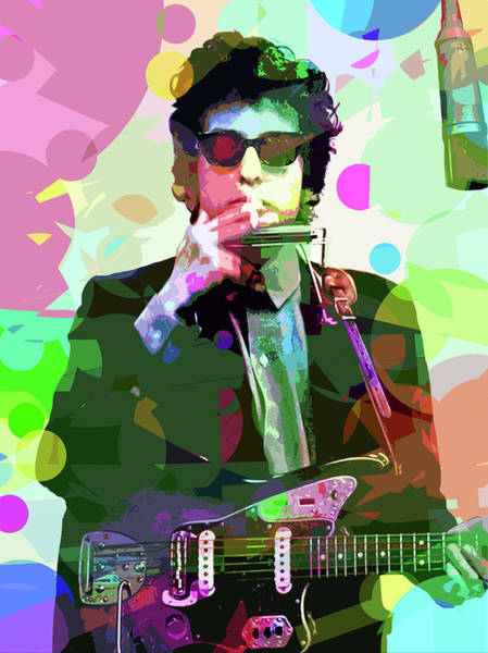 Painting - Dylan In Studio by David Lloyd Glover