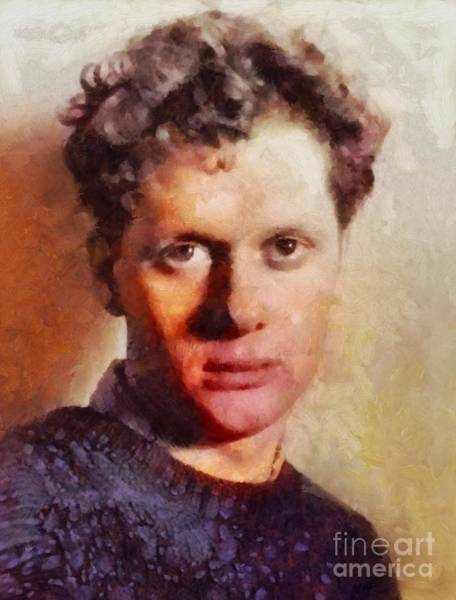 Poetry Painting - Dylan Thomas, Literary Legend by Sarah Kirk