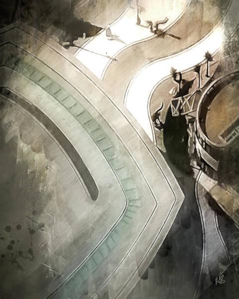 Wall Art - Mixed Media - Dynamic Dubai Abstract by Melissa Smith
