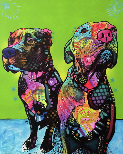Wall Art - Painting - Dynamic Duo by Dean Russo Art