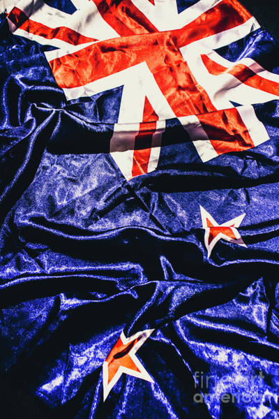 New Zealand Photograph - Dynamic Flag Of New Zealand by Jorgo Photography - Wall Art Gallery