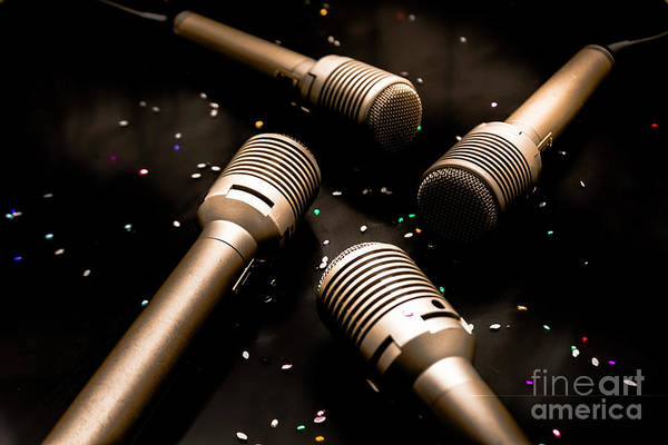 Microphone Photograph - Dynamic Musical Nightclub by Jorgo Photography - Wall Art Gallery