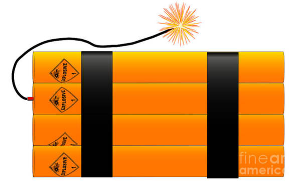 Detonation Digital Art - Dynamite by Bigalbaloo Stock