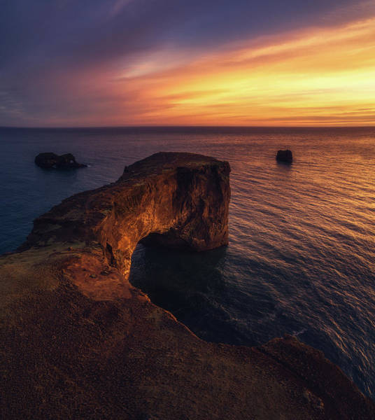 Drone Wall Art - Photograph - Dyrholaey Sunset by Tor-Ivar Naess