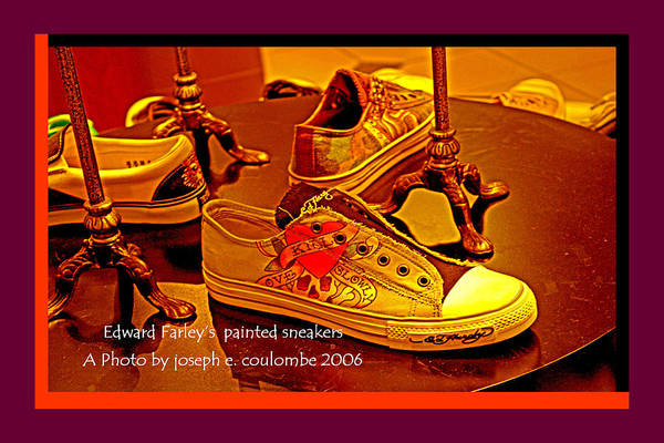 Digital Art - E Farley Painted Shoes by Joseph Coulombe