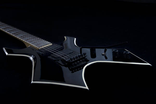 Glossy Photograph - E-guitar by Melanie Viola
