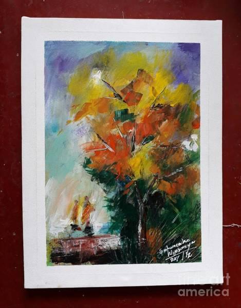 Wall Art - Painting - Lonely by Sudumenike Wijesooriya