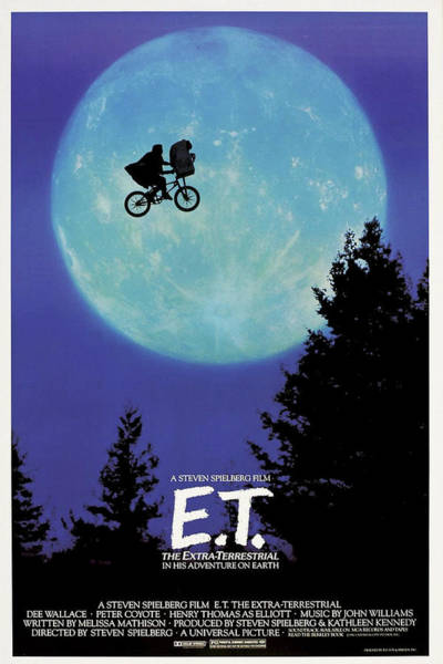 Mixed Media - E T The Extra Terrestrial by Movie Poster Prints