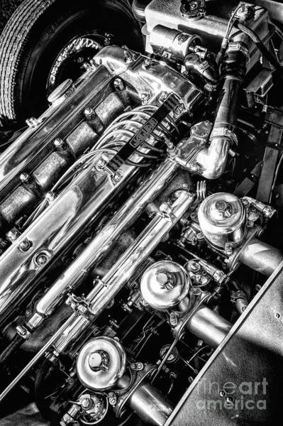 Photograph - E Type Engine by Tim Gainey