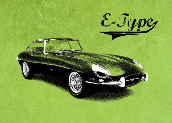 Coupe Photograph - E-type by Mark Rogan