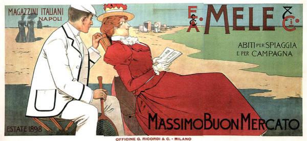 Art Nouveau Mixed Media - E.a Mele And Co - Italian Warehouses - Napoli, Italy - Vintage Advertising Poster by Studio Grafiikka