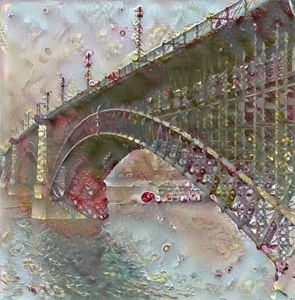 Digital Art - Eads Bridge by Gerry Morgan