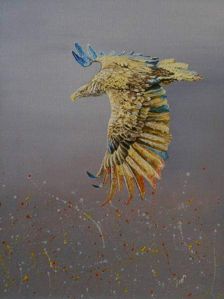 Wall Art - Painting - Eagle-abstract by Maria Woithofer