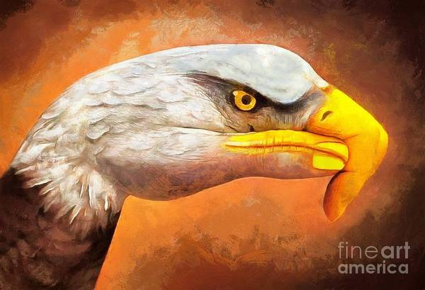 Painting - Eagle At Hand Painting by Catherine Lott