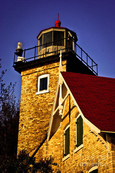 Red Bluff Photograph - Eagle Bluff Lighthouse Of Door County by Mark David Zahn Photography