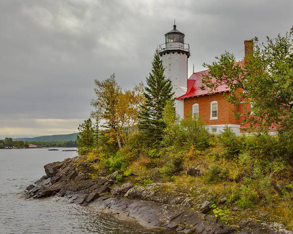 Photograph - Eagle Harbor Light Station by Jack R Perry
