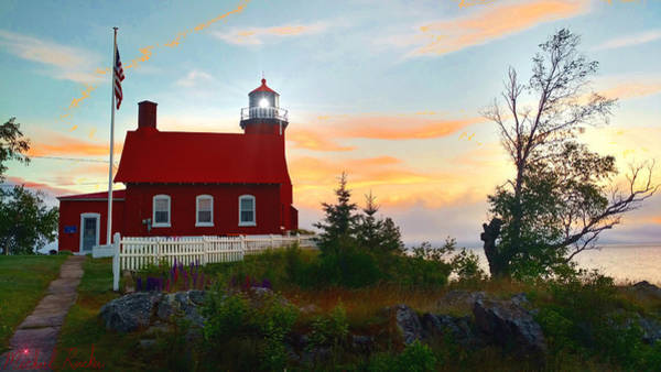 Lighthouse Wall Art - Photograph - Eagle Harbor Lighthouse On Lake Superior by Michael Rucker