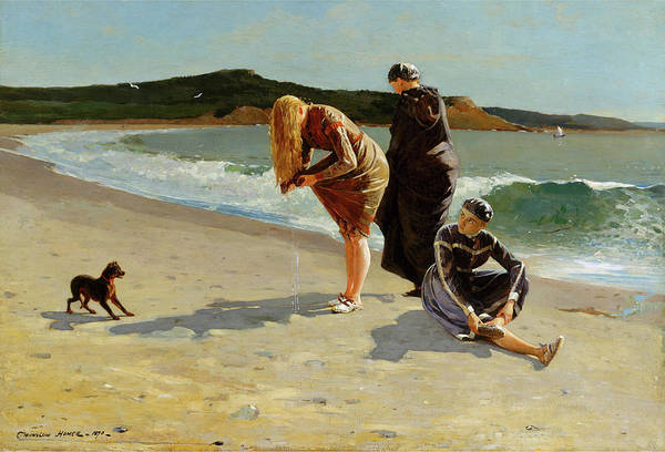 Painting - Eagle Head Manchester Massachusetts High Tide By Winslow Homer 1870 by Movie Poster Prints
