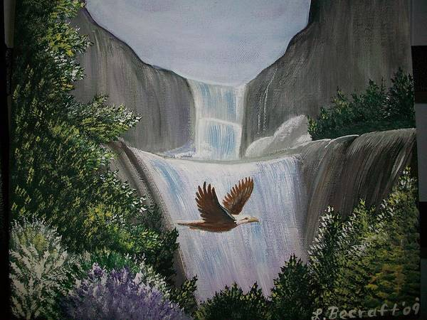 Lula Wall Art - Painting - Eagle In Flight by Lula Becraft