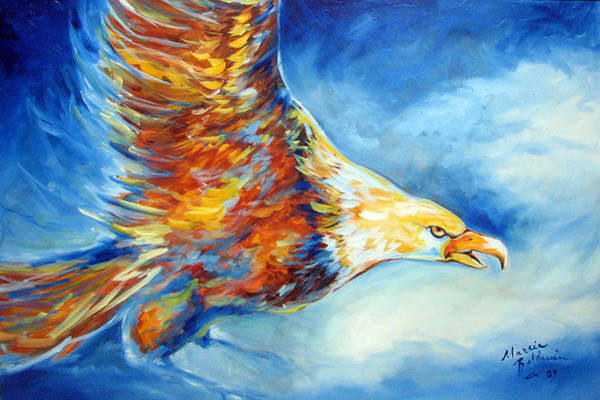 Painting - Eagle by Marcia Baldwin