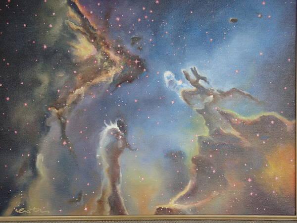 Star Formation Painting - Eagle Nebula by Kim Estes