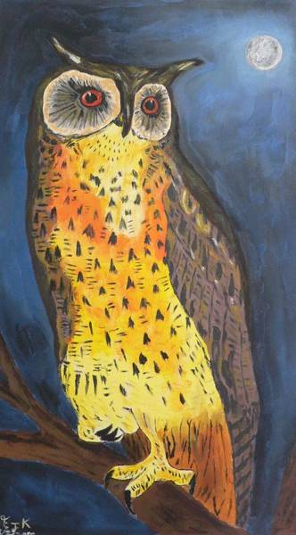 Painting - Eagle Owl by Eric Kempson