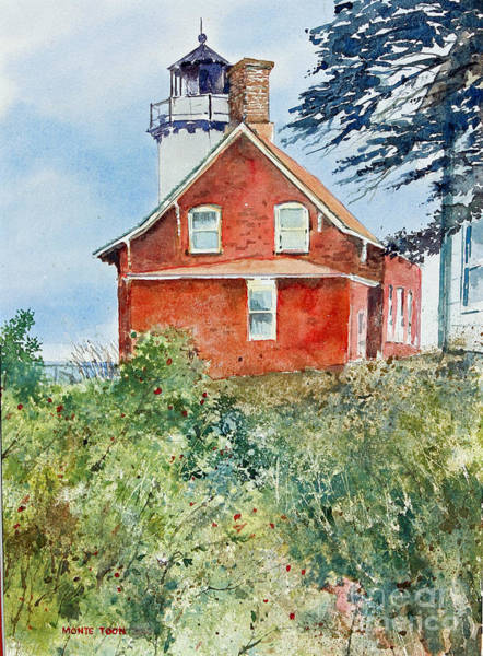 Painting - Eagle Point Light by Monte Toon