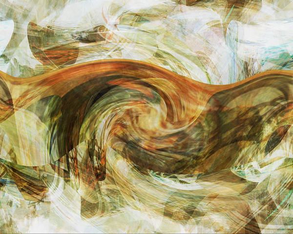 Digital Art - Eagle Profile - Abstract by rd Erickson