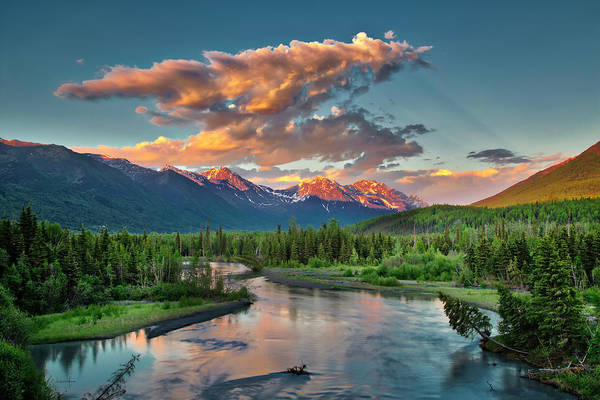 Photograph - Eagle River Sunset  by Ed Boudreau