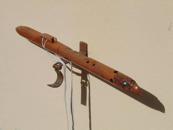 Wall Art - Sculpture - Eaglehead Flute by R Eric Kee