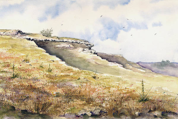 Outcrop Painting - Eagles Beak Ridge by Sam Sidders