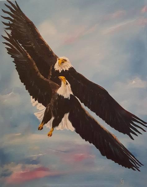 Painting - Eagles Dance      12 by Cheryl Nancy Ann Gordon