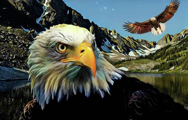 Czech Digital Art - Eagles Lake by Russ Harris