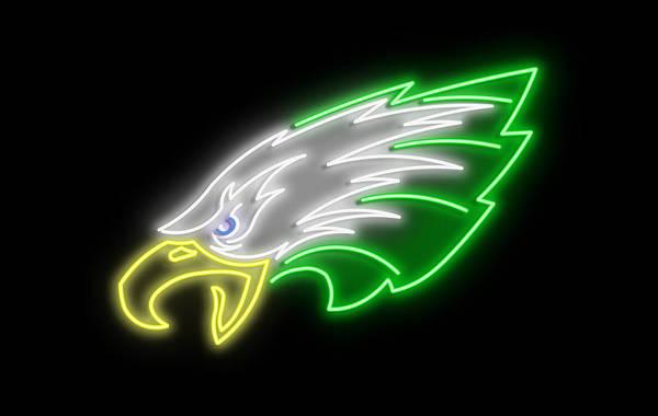 Wall Art - Digital Art - Eagles Neon Sign by Ricky Barnard