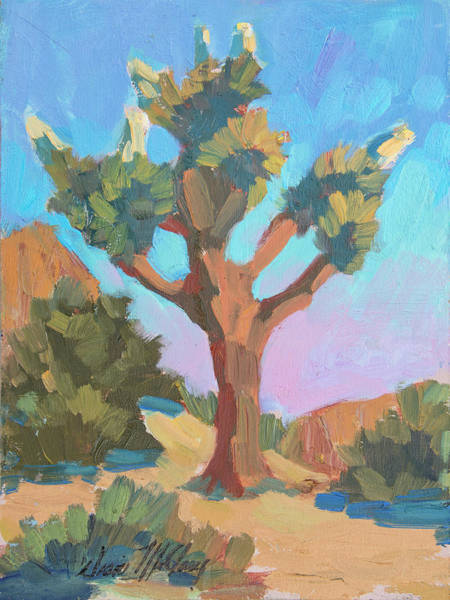 Blooming Tree Painting - Early Bloom Joshua by Diane McClary