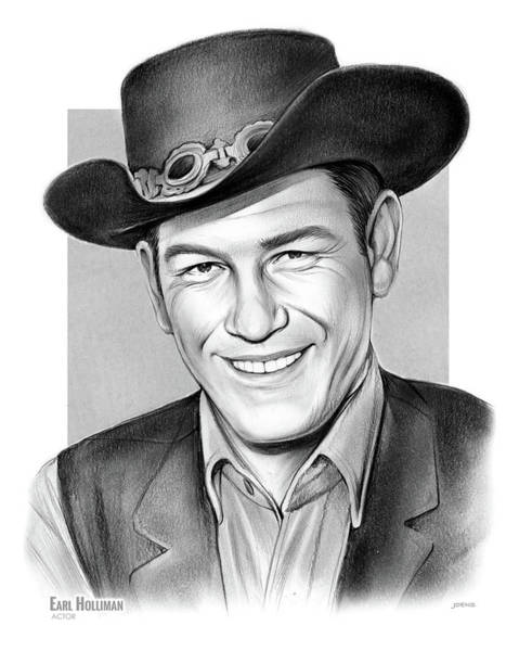 Drawing - Earl Holliman by Greg Joens