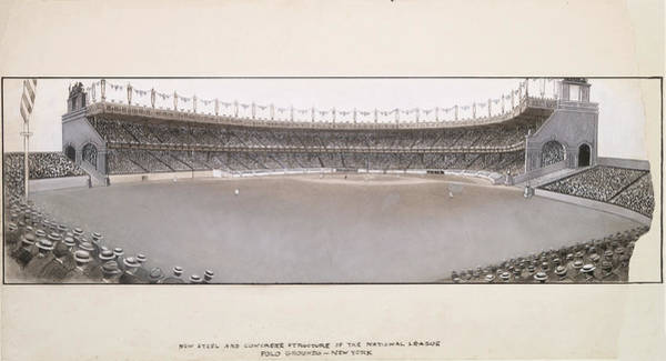 Polo Photograph - Early 1900s Drawing Of The Polo Grounds by Ricky Barnard