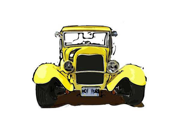 Digital Art - Early 1930s Ford Yellow by Eduardo Tavares