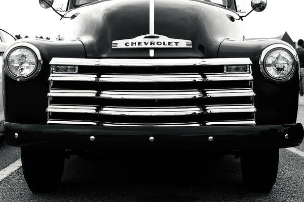 Old Chevy Photograph - Early 1950s Chevy Work Truck by Jon Woodhams