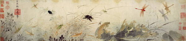 Blue Cornflower Painting - Early Autumn, 13th Century by Qian Xuan