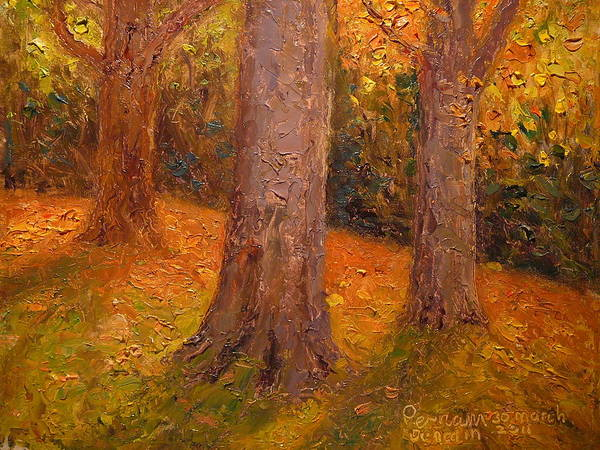 Nz.impressionist Painting - Early Autumn 2011 by Terry Perham