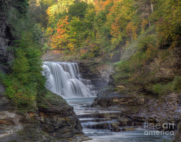 Photograph - Early Autumn On Lower Falls by Rod Best